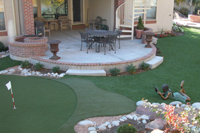 Backyard Putting Green Designs unique putting green Backyard With Artificial Turf Anf Golf Putting Green