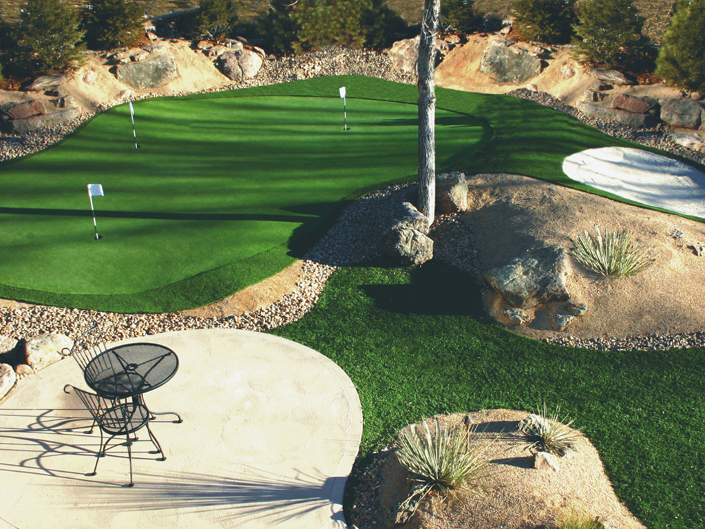 tour play golf synthetic turf construction photo gallery
