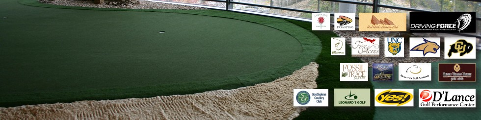 Indoor Golf with Vendor Logos